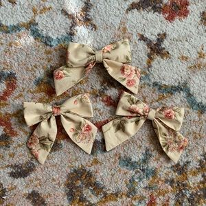 Other - Vintage fabric sailor bow clips